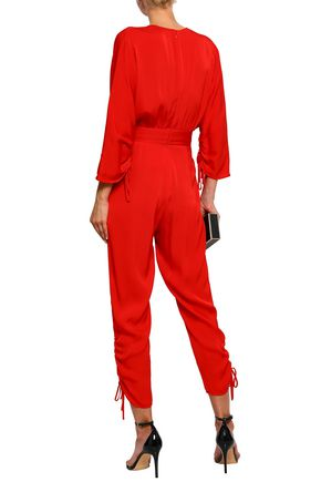 STELLA McCARTNEY Ruched crepe jumpsuit