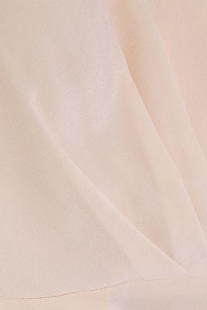 IRIS & INK Dhalia wrap-effect silk crepe de chine peplum top