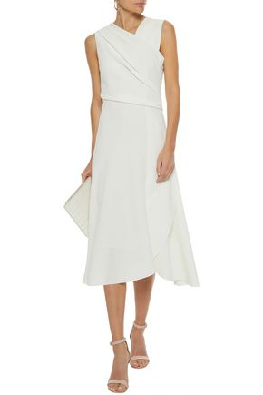 IRIS & INK Iris wrap-effect crepe midi dress