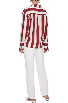 IRIS & INK Valentina striped washed-silk shirt
