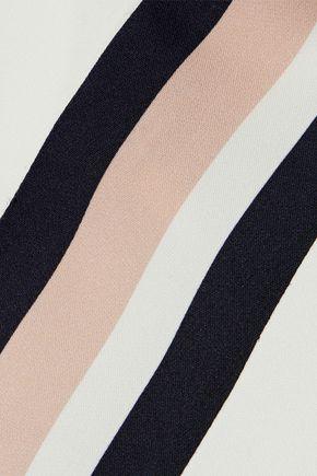 IRIS & INK Trinity striped crepe de chine T-shirt