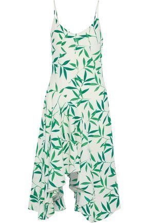 CAROLINE CONSTAS Marie printed crepe de chine slip dress