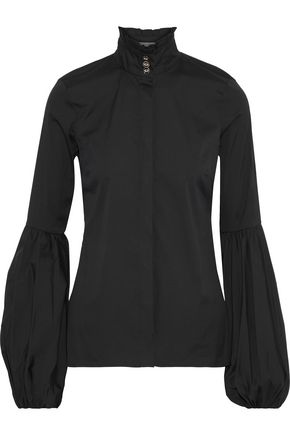 CAROLINE CONSTAS Jacqueline gathered stretch-cotton poplin blouse
