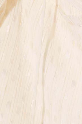 ZIMMERMANN Plissé fil coupé chiffon mini dress