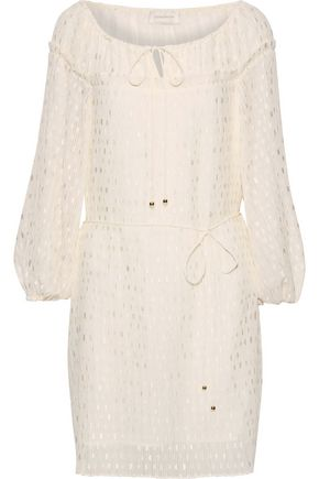 ZIMMERMANN Plissé fil coupé chiffon mini dress