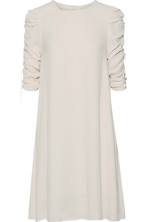 ZIMMERMANN Rouche Shift textured-crepe mini dress