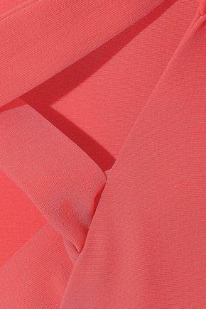 TIBI Lace-up silk crepe de chine blouse