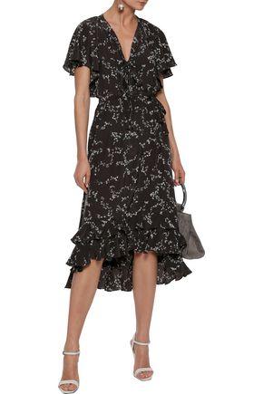 ZIMMERMANN Tiered silk-cady midi dress