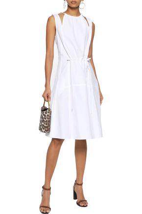 DEREK LAM Cutout gathered cotton-poplin dress