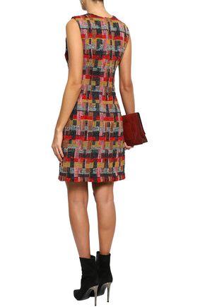 ADAM LIPPES Bouclé-tweed mini dress