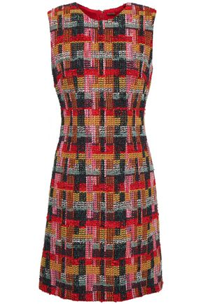 ADAM LIPPES Bouclé-tweed mini dress