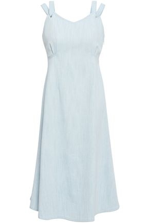 ADAM LIPPES Flared denim dress