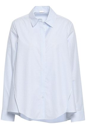 ADAM LIPPES Pinstriped cotton-poplin shirt