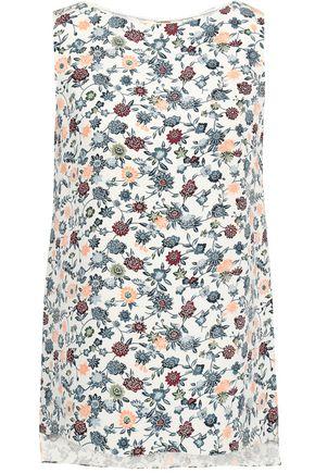 ADAM LIPPES Floral-print silk-crepe top