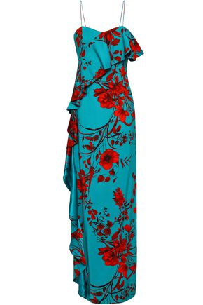SACHIN & BABI Putri floral-design stretch-crepe maxi dress