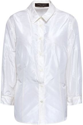 CAROLINA HERRERA Cotton-blend poplin shirt