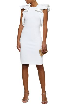 BADGLEY MISCHKA Ruffled ponte dress