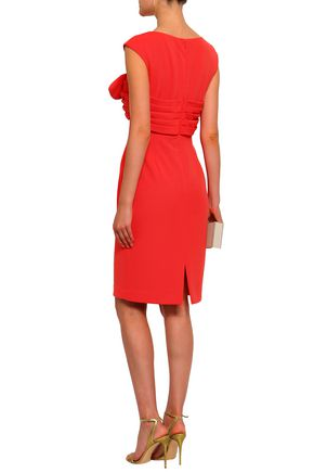 BADGLEY MISCHKA Knotted stretch-ponte dress