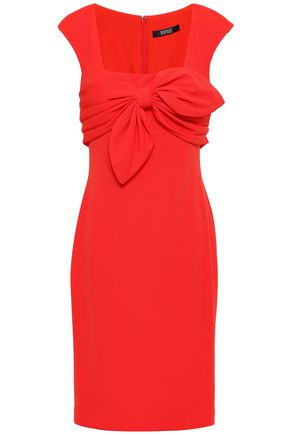 BADGLEY MISCHKA Knotted stretch-ponte dress