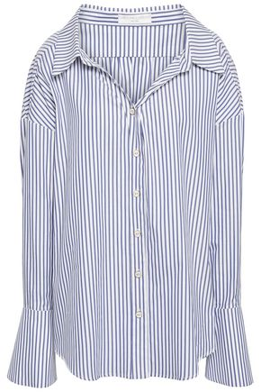 CAROLINE CONSTAS Striped cotton-poplin shirt