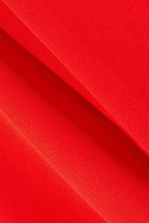 IRIS & INK Iris wrap-effect crepe midi dress