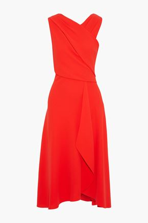 IRIS & INK Iris draped crepe midi dress