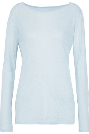 MAJESTIC FILATURES Metallic cotton, cashmere and silk-blend top