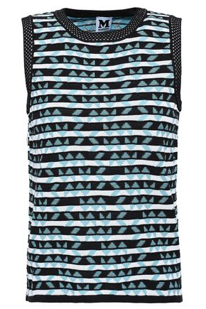 M MISSONI Cotton-blend jacquard top
