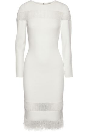 SACHIN & BABI Seraphina fringed stretch-knit dress