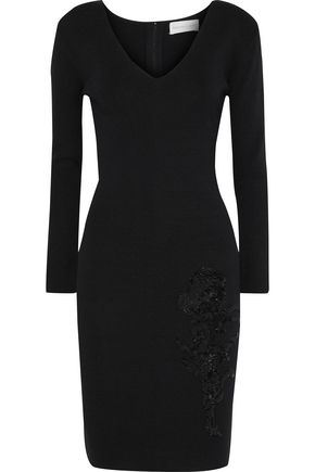 SACHIN & BABI Violette sequin-embellished stretch-knit dress