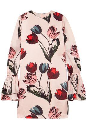 MOTHER OF PEARL Morgan floral-print silk-satin mini dress