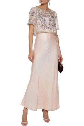 8a0848e21b5 TEMPERLEY LONDON Antila cropped embroidered cotton-blend lace top