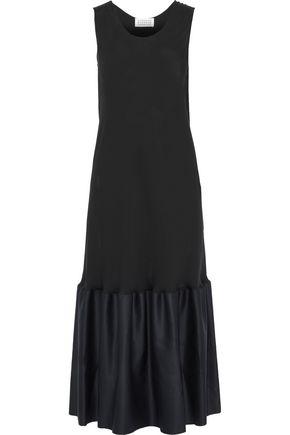 MAISON MARGIELA Gathered satin-paneled silk-jersey midi dress