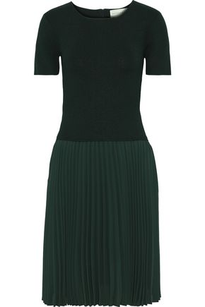 SACHIN & BABI Stromine stretch-knit and pleated crepe de chine dress
