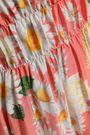 ISOLDA Shirred floral-print crepe de chine mini dress