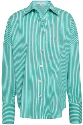 CAROLINE CONSTAS Linda striped cotton-poplin shirt