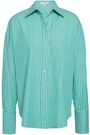 CAROLINE CONSTAS Linda striped cotton-poplin shirt
