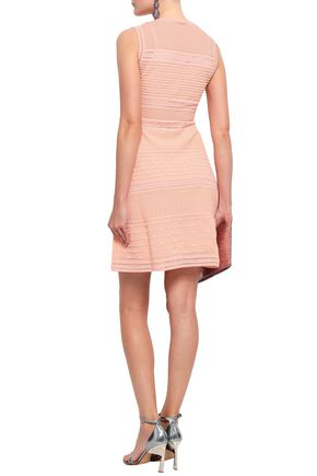 M MISSONI Ribbed crochet-knit cotton-blend mini dress