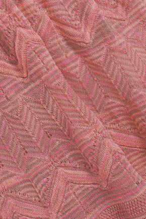 M MISSONI Wrap-effect crochet-knit dress