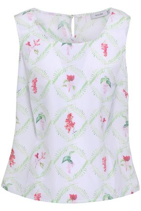 ISOLDA Printed voile top