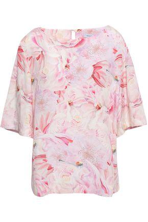 ISOLDA Floral-print silk-crepe blouse