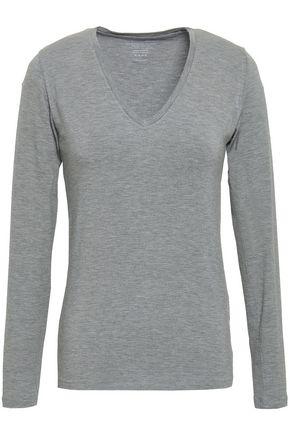 MAJESTIC FILATURES Amelie mélange stretch-jersey top