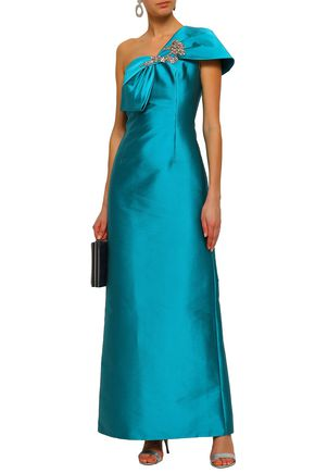 SACHIN & BABI Ines embellished one-shoulder faille gown