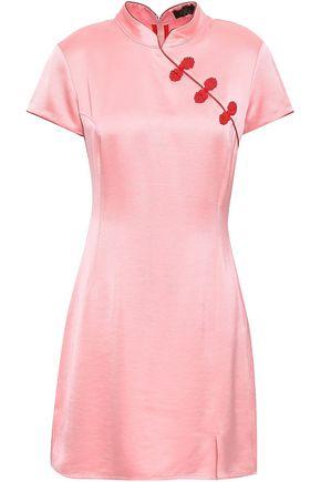 DE LA VALI Embellished satin mini dress