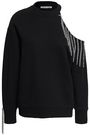 CHRISTOPHER KANE Cutout embellished French cotton-terry sweatshirt