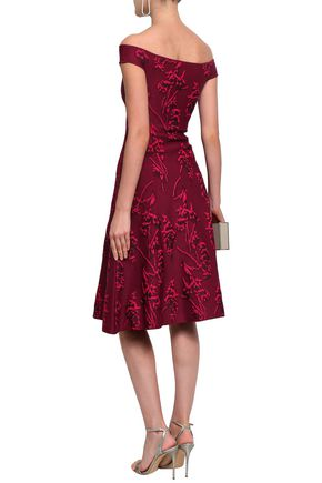 ZAC POSEN Floral-jacquard dress