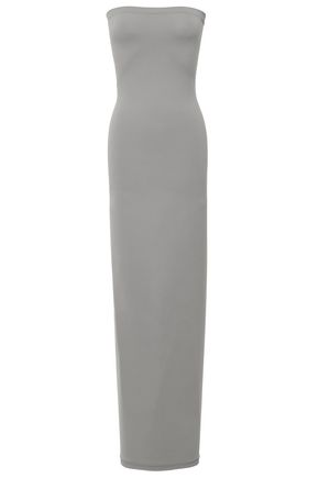 WOLFORD Strapless stretch-jersey midi dress