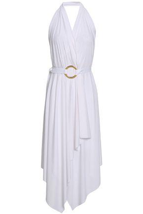 WOLFORD Stretch-modal jersey halterneck dress