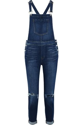 L'AGENCE Harper distressed denim overalls