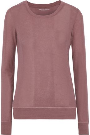 MAJESTIC FILATURES Cotton, cashmere and silk-blend jersey top